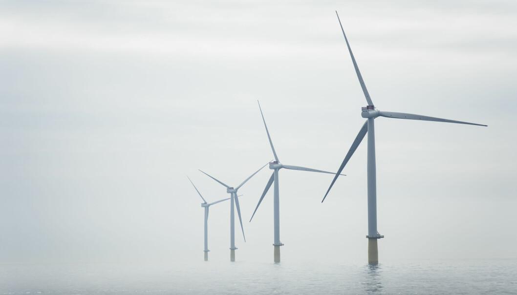 Havvindmøllene er fra Equinors Dudgeon Offshore Wind Farm.