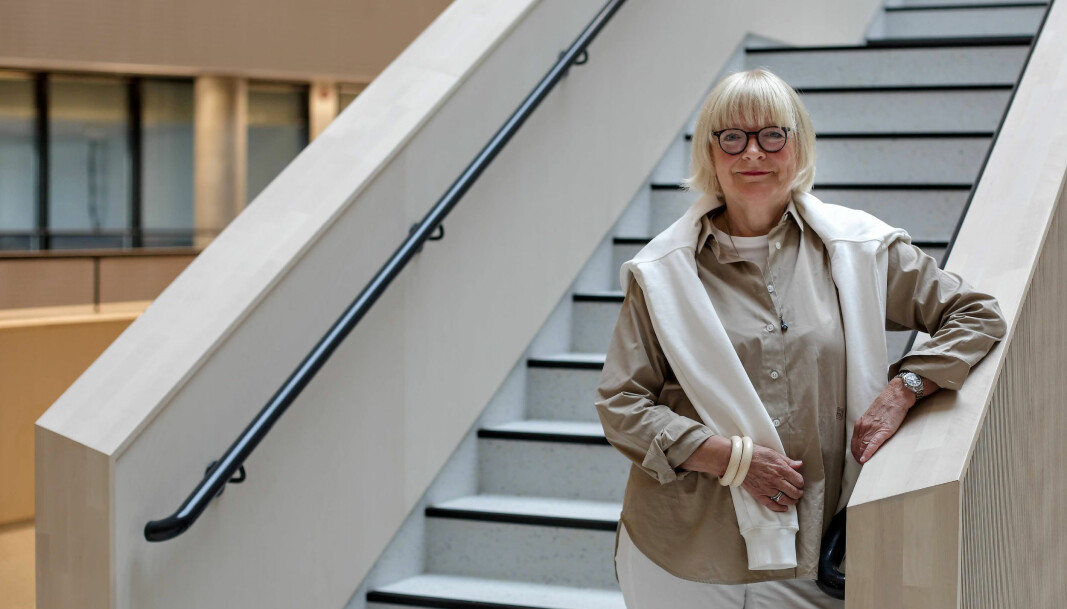 Berit Rokne har hatt fire intense år i rektorstolen på Høgskolen på Vestlandet. Her i nybygget Kronstad 2 som har høstet ros og ganske mye ris grunnet valg av åpent kontorlandskap.