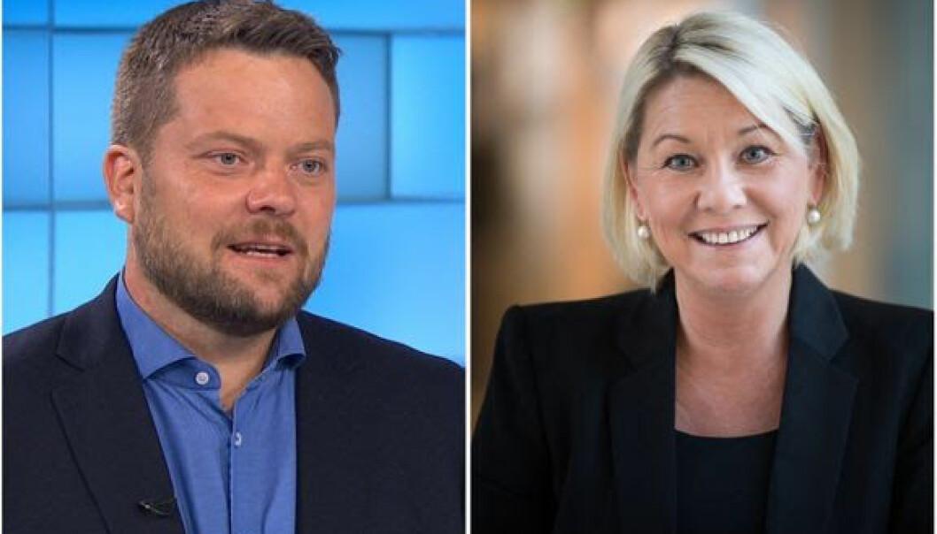 Roger Sevrin Bruland og Monica Mæland er utnevnt til æresalumner ved Universitetet i Bergen.