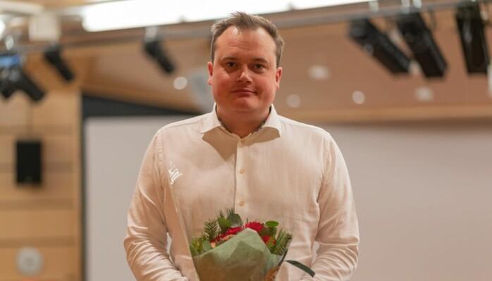 Ærespris for formidling til UiTs Jonas Stein.