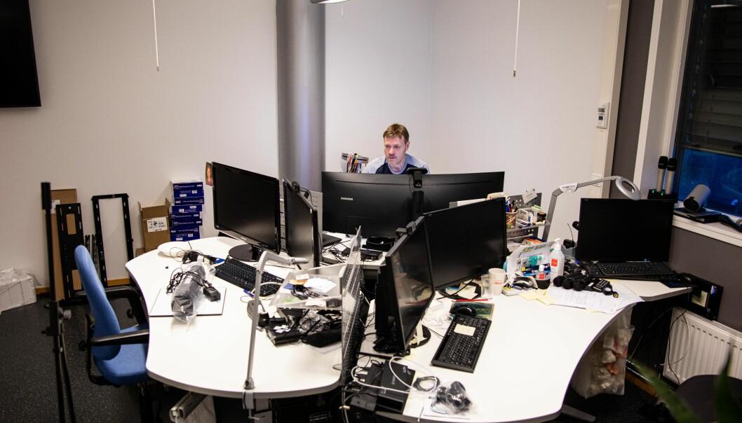 Brukerstøtte på BI logger 17.000 henvendelser årlig. Tor-Arne Tømte har jobbet i IT-avdelingen siden år 2000.