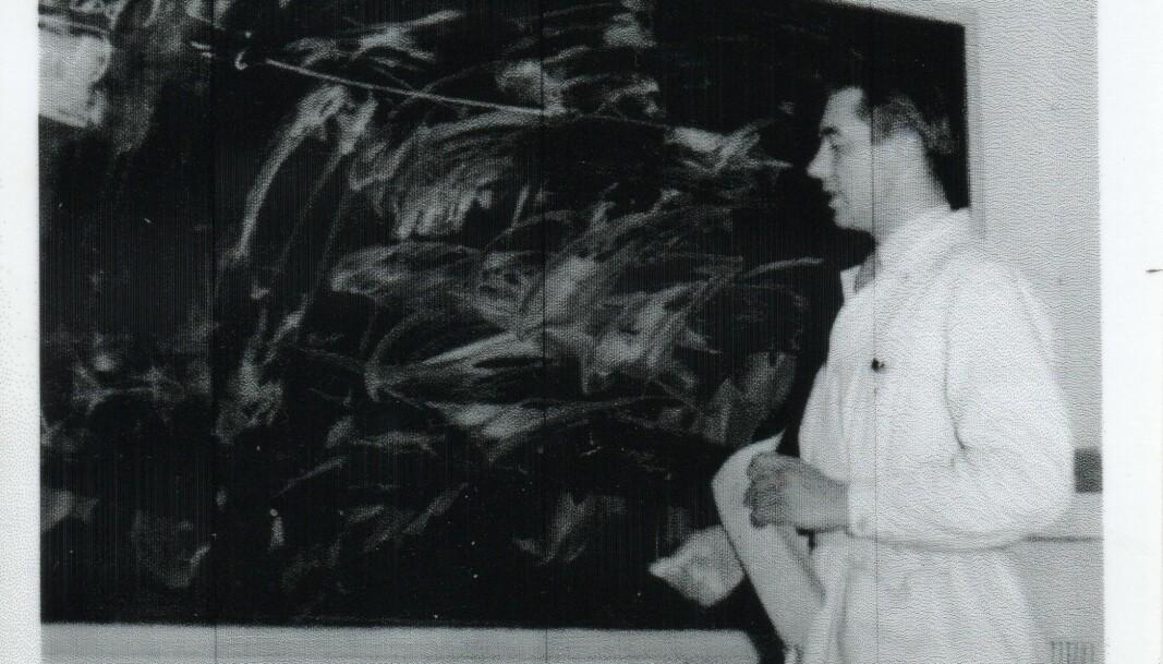 Den unge professoren hadde ikkje fylt 40 då han kom til det unge Universitetet i Bergen. Biletet er frå 1957.