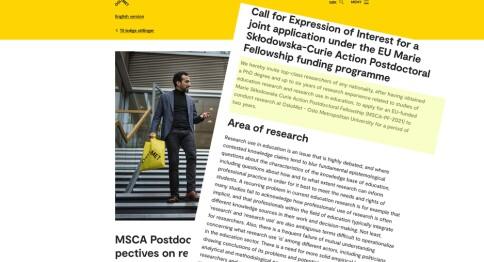 Utlysning av Marie Curie-stipender er ikke stillingsutlysninger