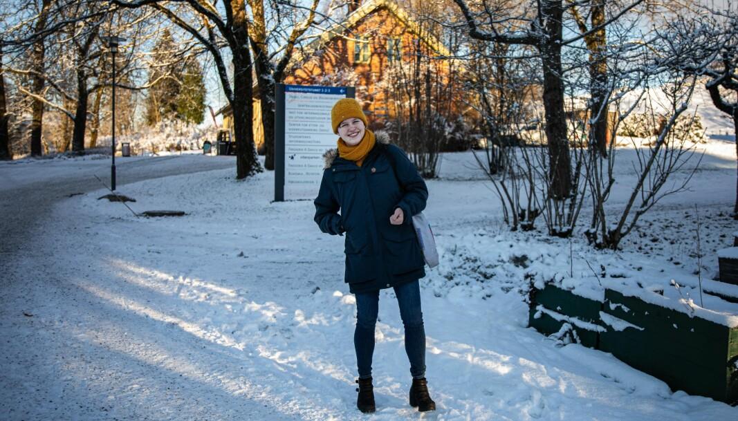 NMBU-studenten Live Sothaug ble kjørt fra Kristiansand til Ås søndag 3. januar.