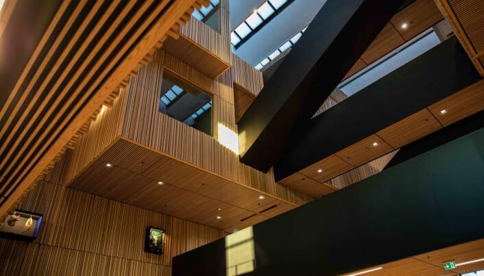 Et nydelig bygg som kommer til å møte både ansatte og studenter etterhvert som de flytter inn i løpet av våren.