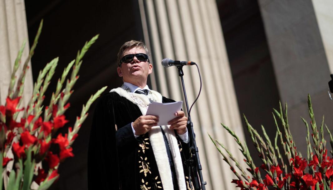 Rektor Svein Stølen ved Universitetet i Oslo kan sole seg over at UiO er på fjerdeplass over dei mest internasjonale universiteta i Norden.