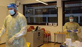 Høgskulen i Volda har fått en teststasjon på campus. 23 personer testet seg for covid-19 den første testdagen.