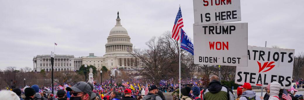 Konspirasjonsteoriar motiverte mange i angrepet på den amerikanske kongressen