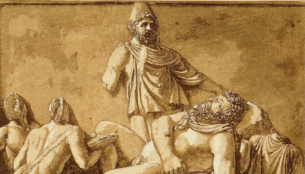 Jean-Pierre Houël Bas' relief viser den antikke fortellingen om Odyssevs.