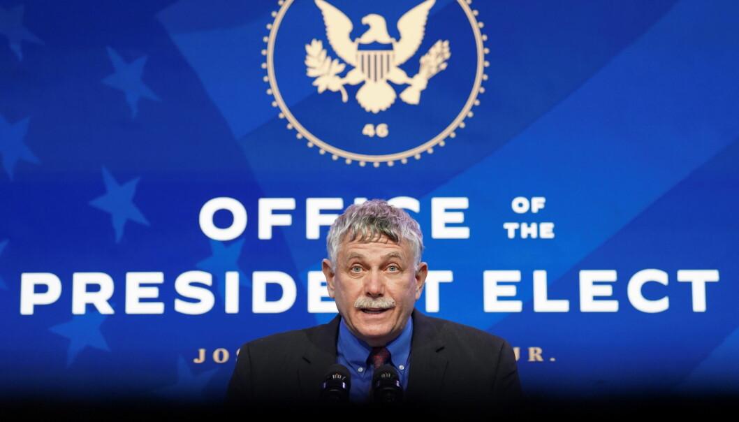 Eric Lander da han lørdag ble presentert som sjef for presidentens kontor for vitenskap og teknologi.