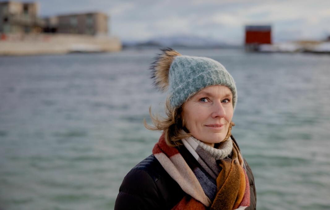Aino Olaisen, eigar i oppdrettsselskapet Nova Sea på øya Lovund på Helgeland, står bak initiativet for framtidas distriktsskule, som ho håpar skal få politikarane til å tenke nytt om lærarutdanning, skule og distriktspolitikk .