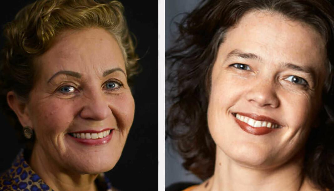 Lisbeth Wathne Svinø og Astrid Kvalbein er de to kandidatene i rektorvalget ved Norges musikkhøgskole. Valget foregår 4.-10. februar.