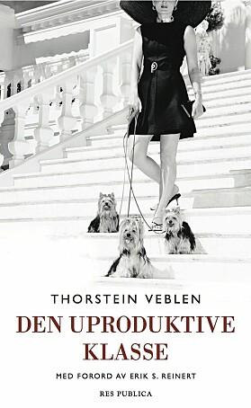 Cover til den norske utgaven av Theory of the Leisure Class.