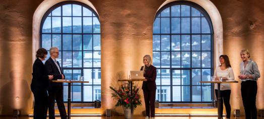 Sjå opptak av debatt om rektorval ved Universitetet i Bergen