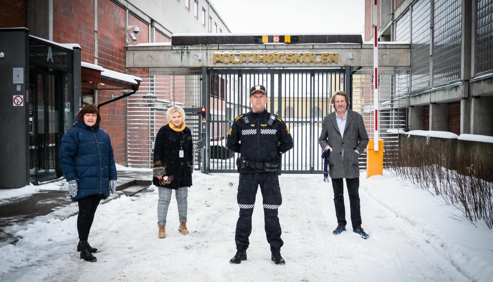 Birgitte Ellefsen, Vanja Lundgren Sørli, Ståle Knudsen og Åsmund Birkeland representerer ansatte ved Politihøgskolen i Oslo. Nå sier de ifra.