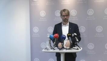 Byrådsleder Roger Valhammer informerte om den siste utviklingen i smittesituasjonen i Bergen kommune.