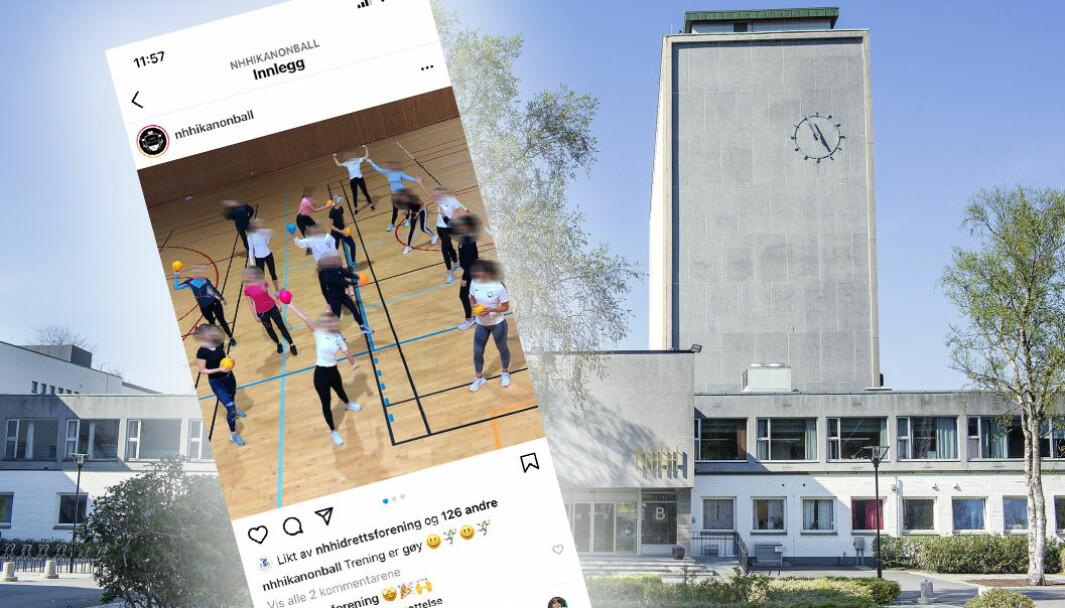 NHH-studentene brukte Instagram-kontoen til kanonballaget til å lodde ut valgfri date. Dette innlegget er et annet innlegg.