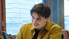 Agmund Riiser (19) tar en bachelor i matematikk og økonomi.