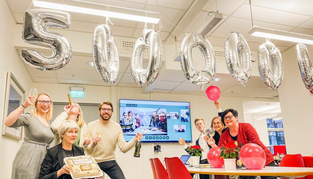 Khrono-redaksjonen feirer rekord i 2019 - en rekord som ble mer enn doblet i 2020.