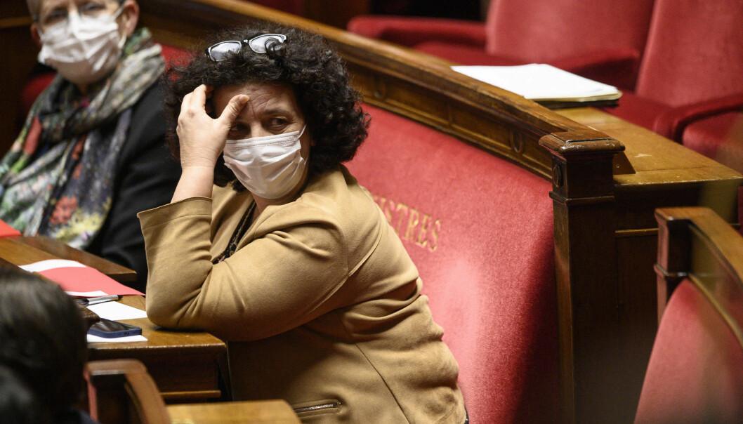 Den franske ministeren for høyere utdanning, Frédérique Vidal, står under hardt press.