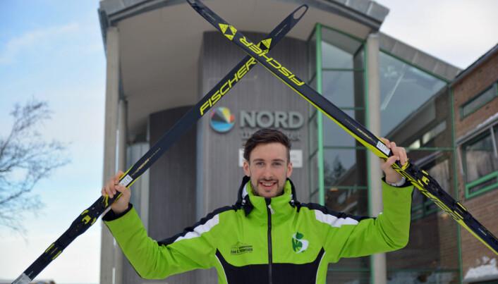 Nord-student Thomas Maloney Westgård håper å være ferdig med mastergraden i idrett før karrieren er omme.