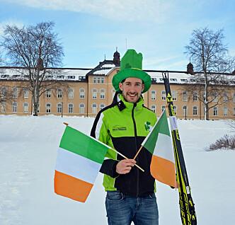 Studenten Thomas til ski-VM — i grønt, hvitt og oransje