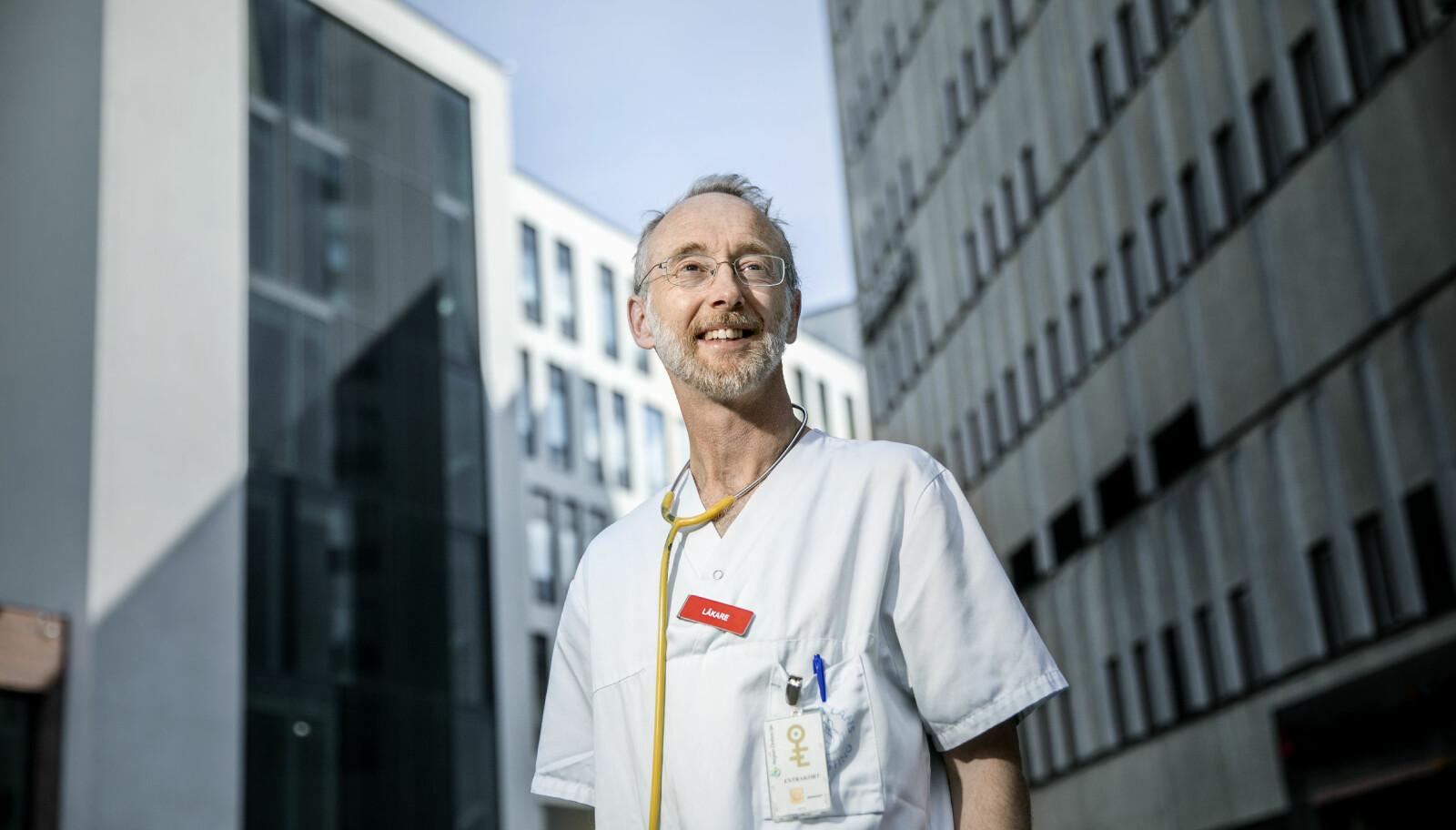 Jonas F. Ludvigsson er professor og barneoverlege. Han vil ikke lenger forske på covid-19.