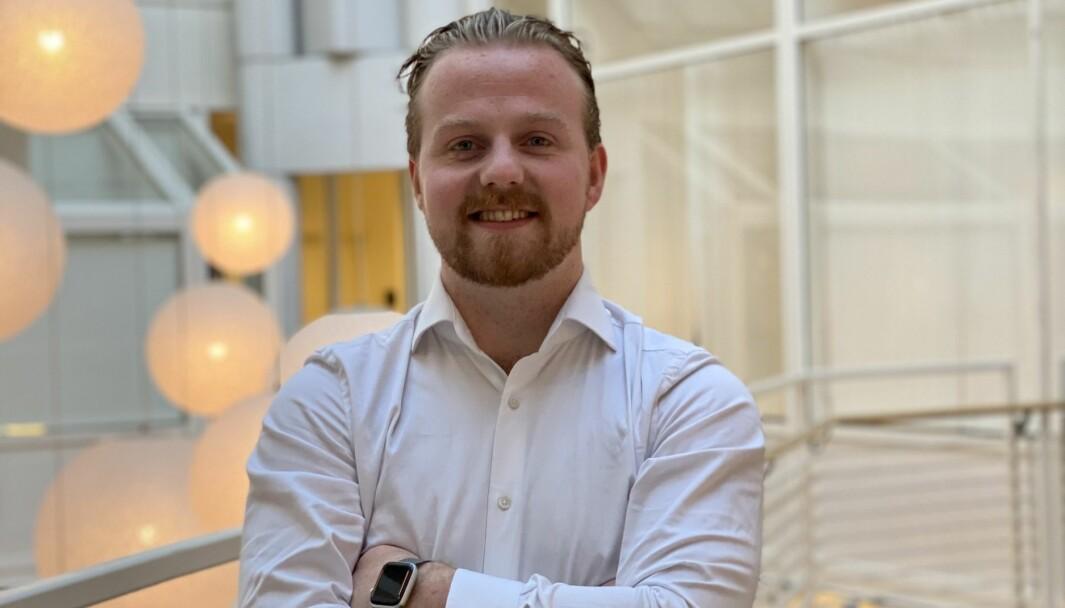 Kristoffer Myklebust Egset leiar Studentunionen ved Høyskolen Kristiania.