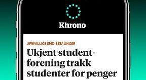 Last ned Khrono-appen og få varsel om de viktigste nyhetene.Last ned til iPhone - Last ned til Android-