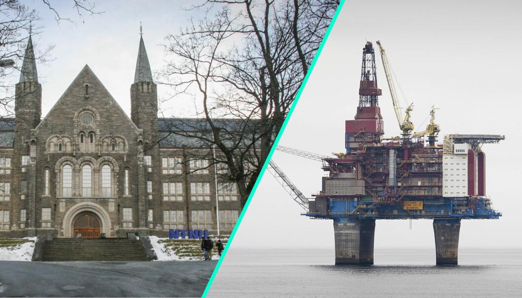 NTNU, her representert ved hovedbygget på Gløshaugen, har penger i flere oljeselskaper.