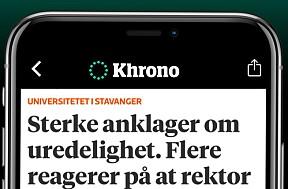 Last ned Khrono-appen og få varsel om den viktig debatt og nyheter.Last ned til iPhone - Last ned til Android-