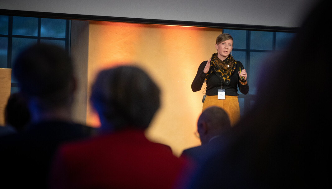 Katja Engerg under Ocean Sustainability-konferansen i Bergen i 2019.
