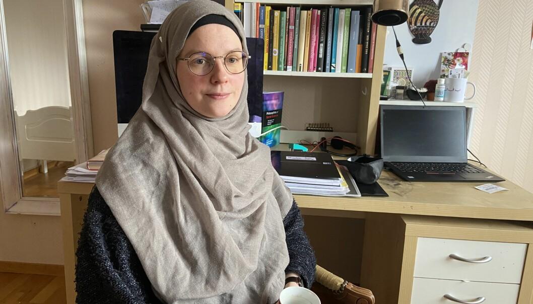 Stipendiat Rahma Vetlesdatter Søvik ved Høgskolen i Innlandet mener forskningen hennes er blitt forvrengt i den danske debatten.