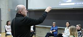 Trond Viggo lærer medisinstudenter dannelse