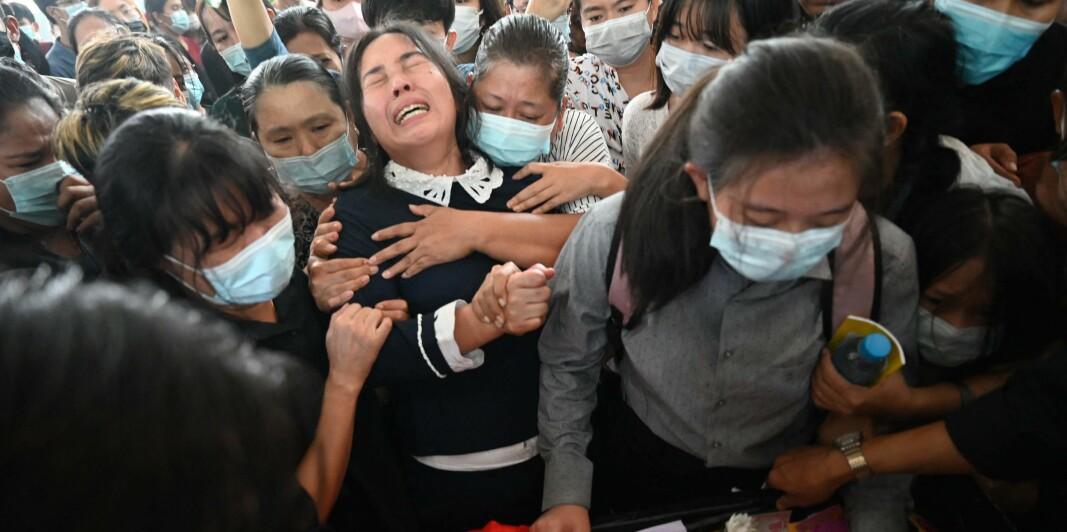 Studenten ble et av mange ofrefor militærets brutale makt