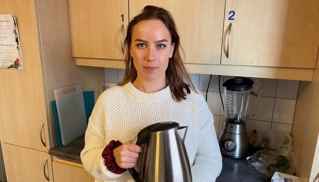Student Sofie Lindstrøm bur i studentbustad i Trondheim, og er òg for tida styreleiar i Studentsamskipnaden i Trondheim. Ho ønskjer ikkje ein eigen straummålar på studenthybelen sin.