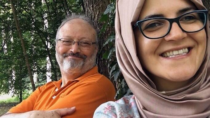 Jamal Khashoggi og forloveden Hatice Cengiz
