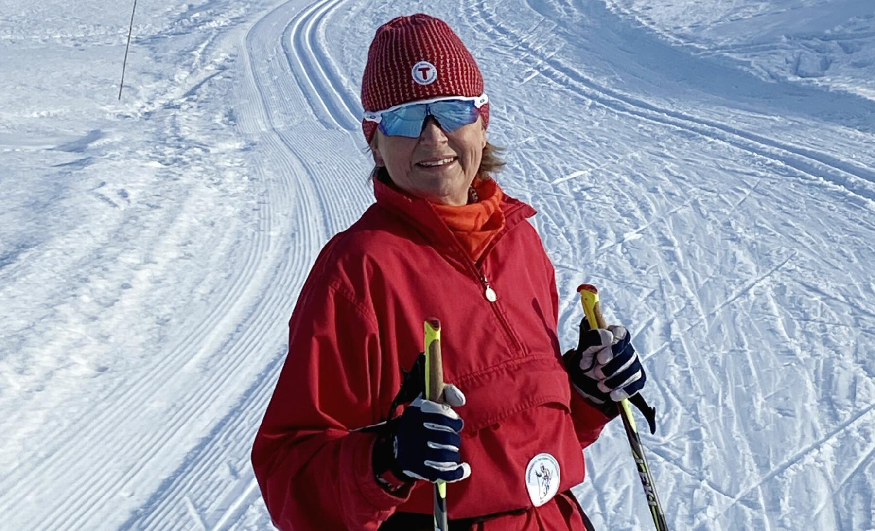 — Det er deilig å sitje ein annan stad enn heime heile tida, meiner administrerande direktør i Nokut, Kristin Vinje. Ho set pris på å kombinere jobben med ein skitur i ny og ne.