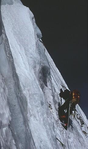 På veg opp til Drangnagri i Himalaya, ein topp på over 7000 meters høgde.