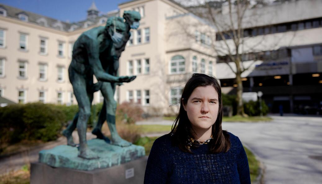 — Når vi kommer ut i andre enden er det ingenting som venter. Det er selvfølgelig veldig demotiverende, sier Margot De Rijke, som går siste året på medisinstudiet ved Universitetet i Bergen.