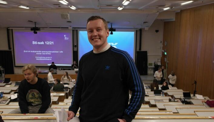 Leder i Studenttinget ved NTNU, Andreas Knudsen Sund.