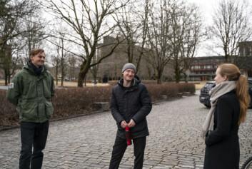 Studenter i Internasjonale studier ved Universitetet i Oslo Ola Lindh, Peder Nyeggen og Ellen Vrålstad.