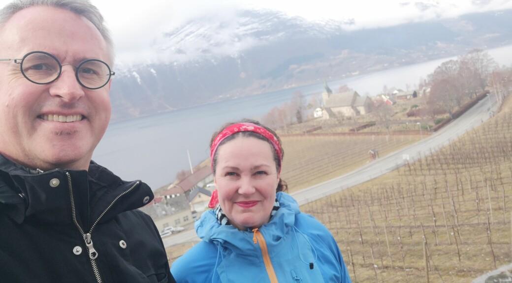 Bård og Leni Mæland er glad i å være ute i naturen.