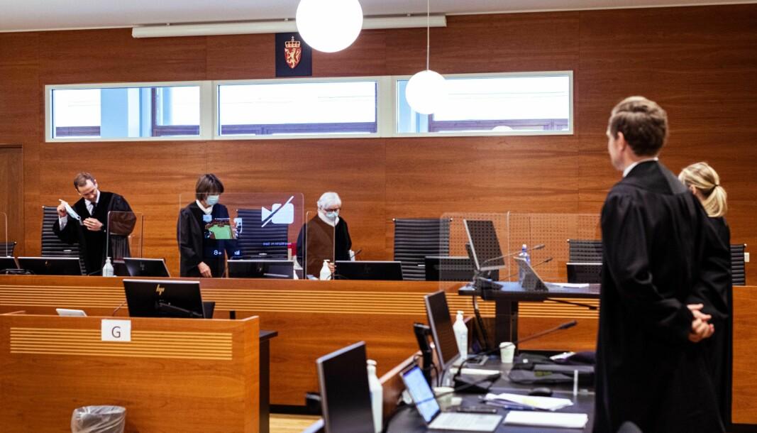 Lagdommerne Arne-Martin H. Sørli, Fanny Platou Amble og Mary-Ann Hedlund har gjort sine vurderinger og kommet til en dom i saken.