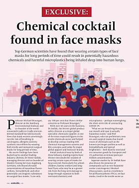 Slik ble intervjuet med de tyske fagfolkene presentert i Ecotextile News. (faksimile fra Ecotextile News)