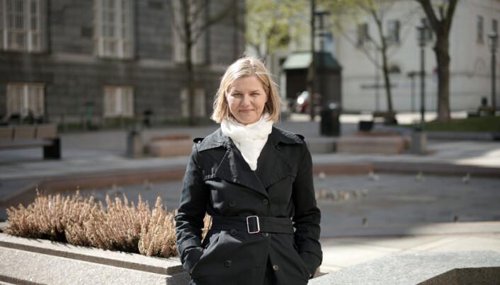 Venstreleder Guri Melby, klar for debatt på årets landsmøte.