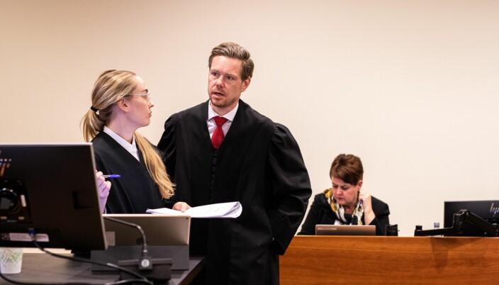 Regjeringsadvokatene Kaija Bjelland og Torje Sunde har ført saken for staten. Her under Borgarting lagmannsretts behandling av saken tidligere i vår.