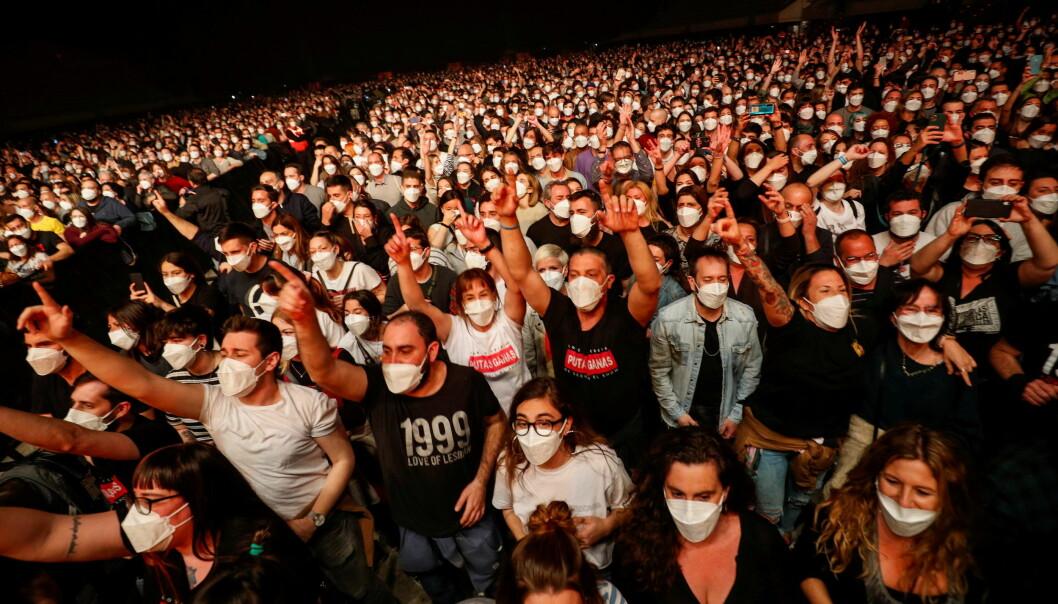 5000 hurtigtestede personer var tilstede på konsert med