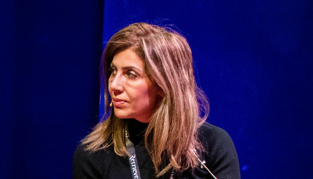 Fevziye Kaya Sørebø som ble skutt og drept på Frogner i Oslo onsdag morgen. Bildet er tatt på SKUP-konferansen i Tønsberg i 2019, der hun var engasjert som tolk. Sørebø var ansatt ved OsloMet fra 2018-2021.