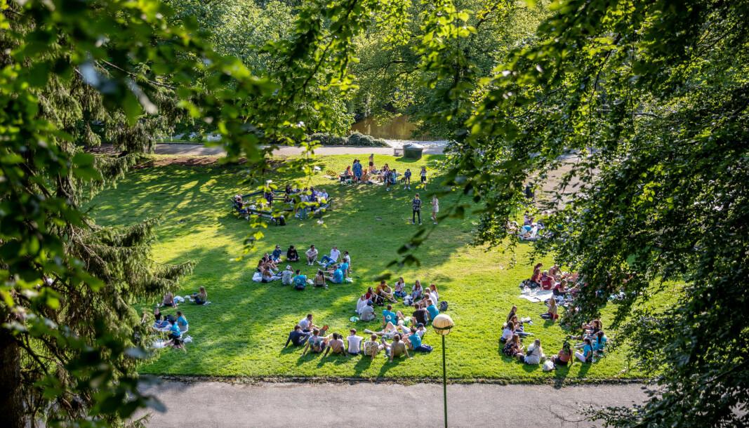 MDG vil også sikre studentenes rettigheter, ved å blant annet lovfeste retten til et godt læringsmiljø, skriver Rasmus Hansson og Kim André Nielsen. Bildet er fra en samling i Nygårdsparken under Fadderuken i Bergen.